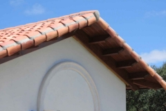 Residential tile gable end detail